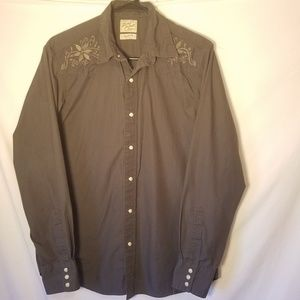LUCKY WESTERN PEARL BUTTON SHIRT, SIZE MED